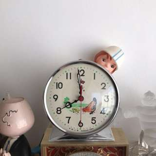 NOS Box Animated Chicken Alarm Clock for Shanghai Diamond Rare