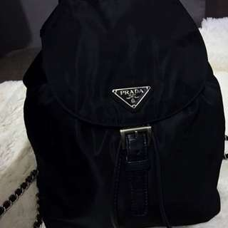 Rare Prada Silver Chain Backpack Bag