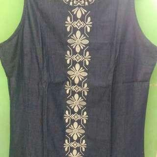 Maong Sleeveless Dress