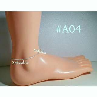 #A04 Simple Charm 925 Silver Anklet Sellzabo Ankles Legs Accessories Ladies Girls Women Female Lady Cny