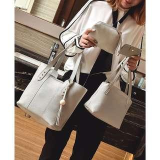 korean style tote 4pcs bag...