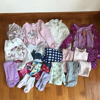 Pyjamas for toddler girls 20 pcs. 2 years. Zara,  baby GAP. Hm and Disney