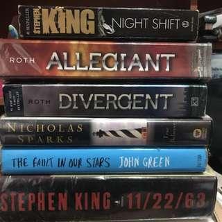Preloved novels! :)