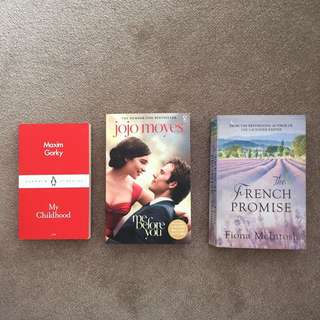BOOKS Me Before You, My Childhood, The French Promise