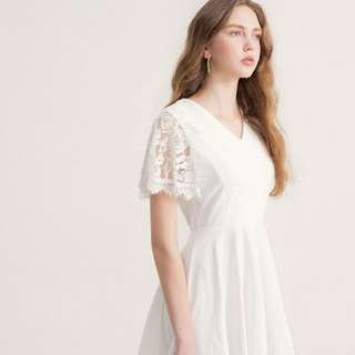 AIRSPACE White Laced Premium Dress