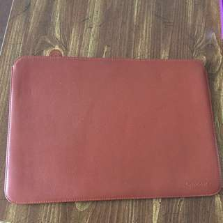 Real leather computer pouch