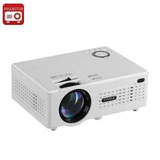 Xiange LCD Projector - 3.8 Inch LCD Imaging System, 200 Lumens, Keystone Correction, 80 To 130 Inches Image Size (CVAIA-E857)