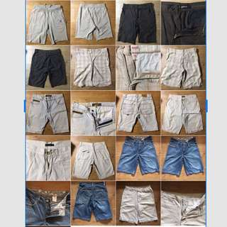 Assorted Men's casual khaki denim jogger shorts