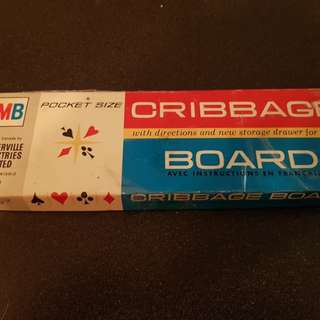 Vintage Pocket Cribbage Game Crib 1964