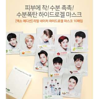 EMS INCL PO: [EXO x NATURE REPUBLIC] Real Nature Hydrogel Mask