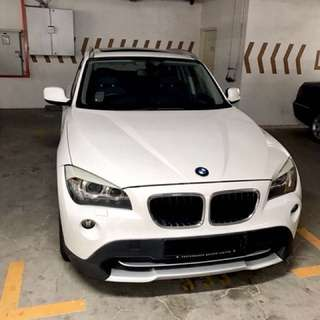 BMW X1 2.0A (2011) White for Rent!