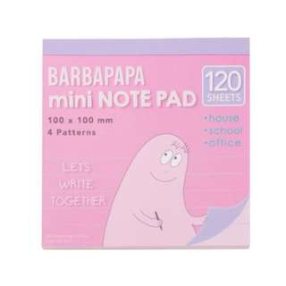 🚚 🇯🇵日本 plaza 泡泡先生Barbapapa 方型便條紙