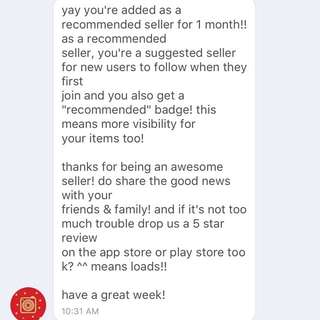 THANK YOU CAROUSELL FOR THE RECOMMENDED BADGE 👍🏻