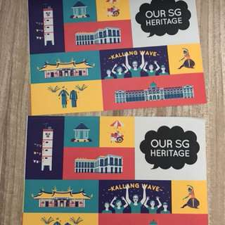 Singapore Our Heritage Stickers (2 pieces)