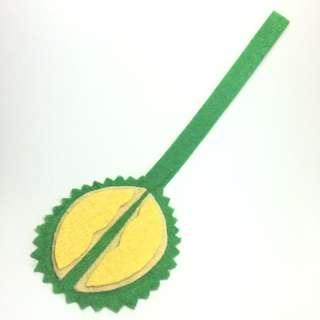 Handmade felt durian bookmark