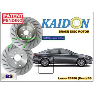 "Lexus ES250 brake disc rotor KAIDON (REAR) type ""RS"" / ""BS"" spec"