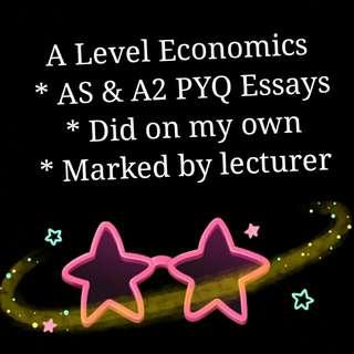 A Level Economics PYQ Essays