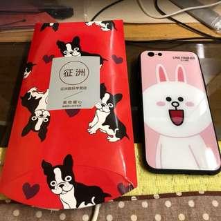 Iphone 6/6s line小兔手機殼 (背面拋光)