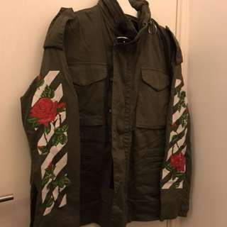 Off-white embroidered military Jacket