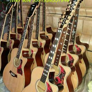 Gitar akustik elektrik istimewa bisa request