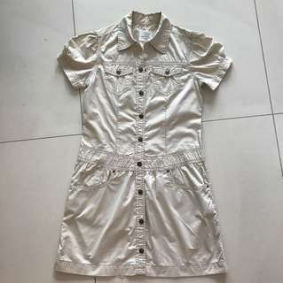 H&M girl button down dress