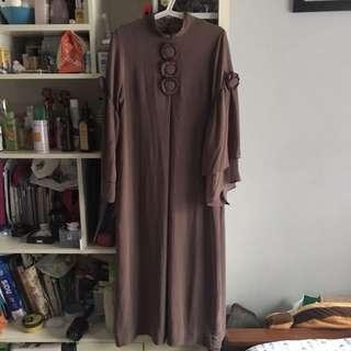 Muslim Gamis Cokelat