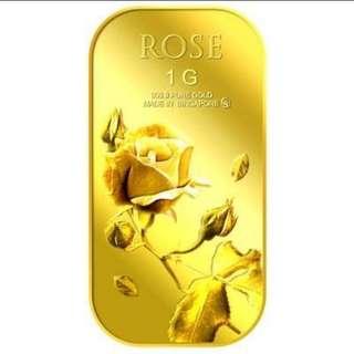 Puregold Rose 99.9% Gold Bar