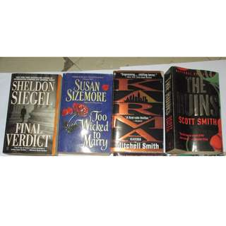 Sheldon Siegel, Susan Sizemore, Mitchell Smith, Scott Smith  Paperbacks, Preloved Book/Books