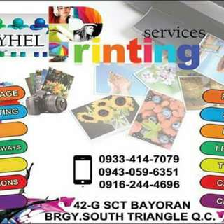 Photography,pictorials,invitaions(all occassions),souvenirs,calling cards,rush id,