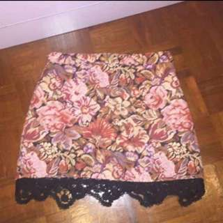 Topshop floral skirt