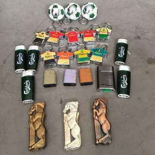 One lot of Carlsberg lighters with Horlick glass