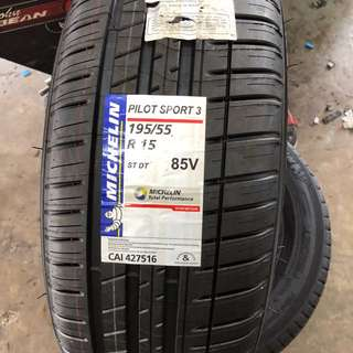 195/55/15 PS3 Michelin Tyre