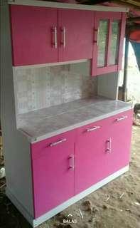 Lemari sayur 3 Pintu Pink Minimalis