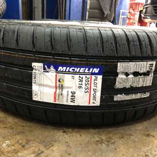 205/55/16 PS4 Michelin Tyre