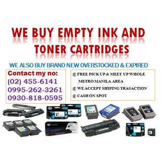 HIGHEST PRICE BUYER OF NEW AND EMPTY INK CARTRIDGES