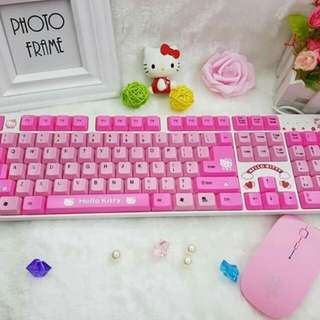 Hello kitty keyboard and mouse