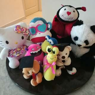 #15OFF Set of soft toys (8 in total)