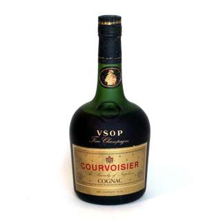 Courvoisier 1970s Cognac Fine Champagne V.S.O.P. The Brandy of Napoleon in Red Box -- a rarity especially collectible for the vintage wine collector