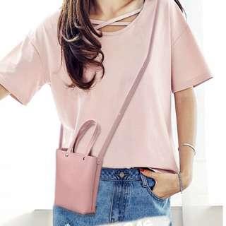 Mini Korean Leather Sling Bag