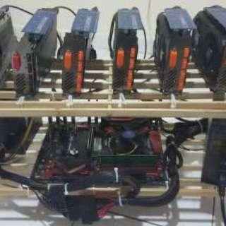 Used 6 card GPU Mining rig