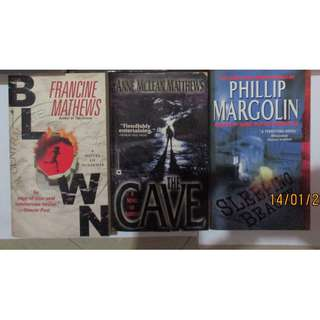 Francine Mathews, Anne McLean Matthews, Philip Margolin, John Ramsey Miller Paperbacks, Preloved Book/Books