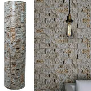 3D Stone Wall Granite Vinyl Wall Stickers (self adhesive)