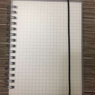A5 and A6 Muji style grid notebooks with rope