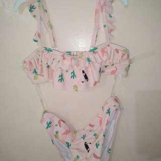 Flamingo printed swimsuit #moveon