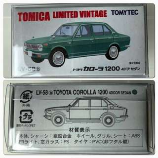 TomyTec Tomica LV-58B Toyota Corolla 1200 4 Door
