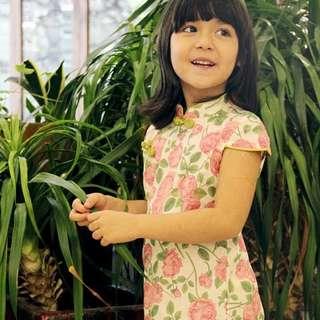 CS064 Girls Traditional Chinese Dress Cheongsam Qipao - Roses