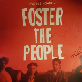 Signed Foster The People Poster