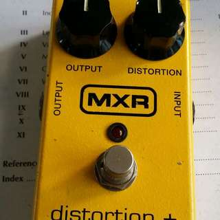 Mxr distortion plus guitar effects