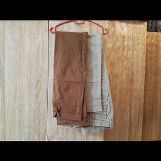 Uniqlo brown pants size 32 -33