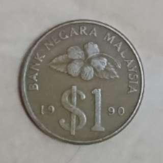 Syiling RM1 tahun 1990